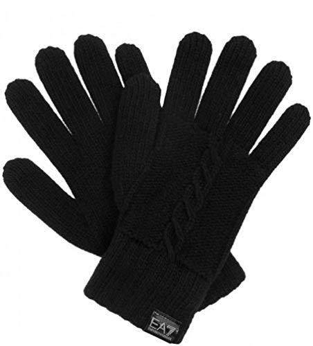 Emporio Armani Handschuhe aus Wollmischung mit EA7 Logo 285298 4A392 00020 Black, Schwarz S