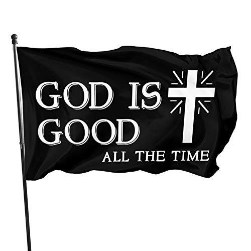 Juhucc God is Good All The Time Christian Flag 3x5 Ft Garden Flag Banner Decoration Outdoor Flag