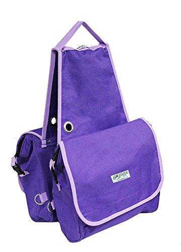 Tahoe Tack Heavy Duty Insulated Waterproof Nylon Horse Saddle Bag, Purple