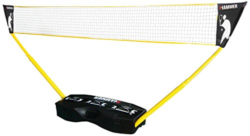 Hammer 3 in 1 Netze-Set - Mobiles Volleyball-, Badminton- und Tennisnetz