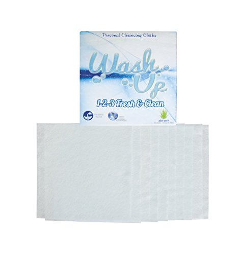 Wash Up 1 2 3. Disposable Washcloths Aloe Vera Best Antibacterial Body Wash,10 units per package