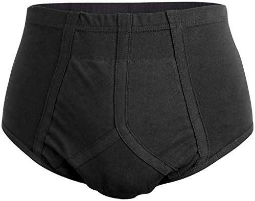 Inkontinenzslips für Männer Waschbare wiederverwendbare Unterwäsche mit saugfähigem Pad (L)