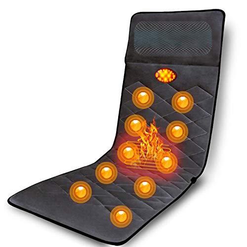 HKDJ-massage mat, massagekussen met afstandsbediening ter verlichting van pijn in de lumbale wervelkolom, gemakkelijk op te bergen