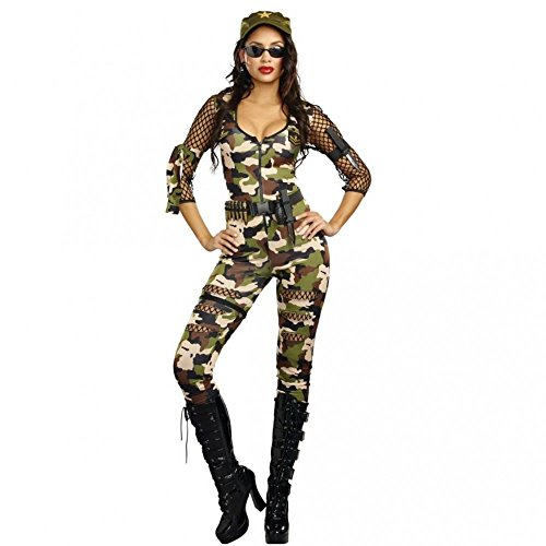 Dreamgirl Kostüm Army Girl Cathy Gr. S, M, L Overall Camouflage Armee Soldatin Kriegerin (M)