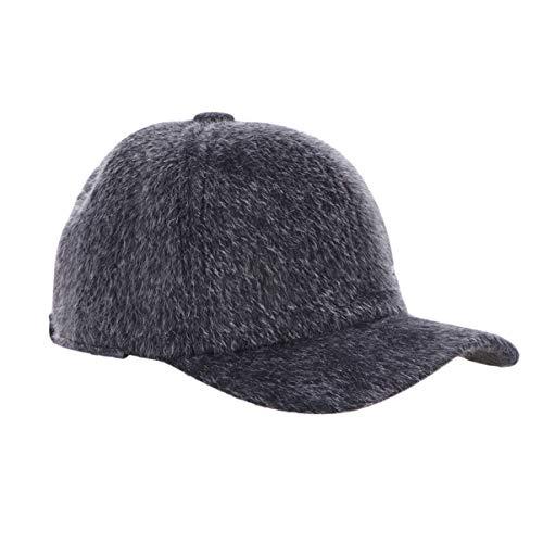 LIOOBO 1 PC einstellbare Baseballmütze Ohrenklappen Hut Winter Pelz Baseballmütze für Männer Frauen Winter Walking Travel - grau