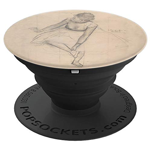 Dancer Adjusting Her Slipper Degas Pencil Drawing Study PopSockets Grip and Stand for Phones and Tablets