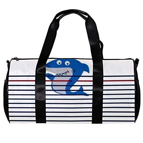 Anmarco Duffel Bag per le Donne Uomini Squalo Arrampicata Ringhiera Sport Palestra Tote Bag Weekend Borsa Da Viaggio Pernottamento Outdoor Bagagli Borsa