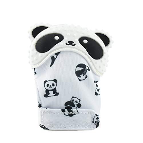 Monlladek Kind silikon kinderkrankheiten handschuh Baby molaren Handschuhe Panda Muster Baby molaren Handschuhe Schleifen die zähne mitt für Kleinkinder