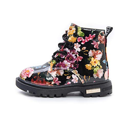 Komfyea (Black Children Boots Baby Girl's Short Boots Kids Casual Shoes Rain Boots 608(22, Black)