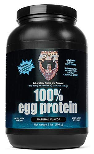 Healthy 'N Fit - 100% Egg Protein (unsweetened) Natural Flavor, 2Lbs, Great for Baking and Mixing, 100% Egg White Isolate