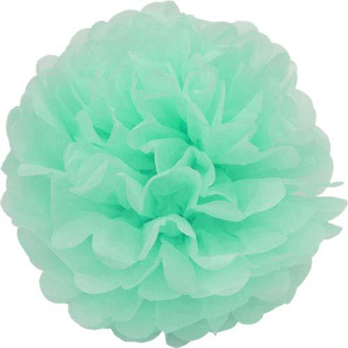 Creativery 1 pompón de papel de 50 cm XXL (verde menta/menta 513) // Pompón pompón bola de papel de seda flores decoración colgante decoración decoración de habitaciones