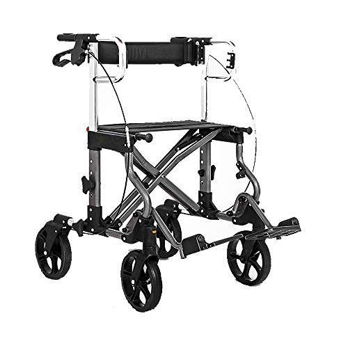 HYRL Elfter Faltschalzer Walker Shopping Cart Trolley, Light Shopping Cart Crutches Walker Rollstuhl-Mobilitätshilfe für Erwachsene, Ältere & Handicap