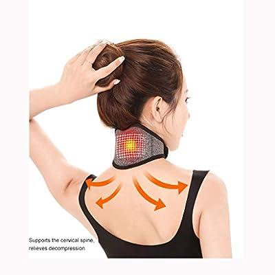 MORECON Self-Heating Neck Massage Tourmaline Ma...