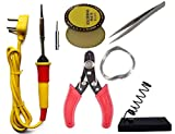 Eskon (7 in 1) 25W Soldering Kit Including Soldering Iron, Soldering Wire (1.5m), Flux, Iron Stand,...
