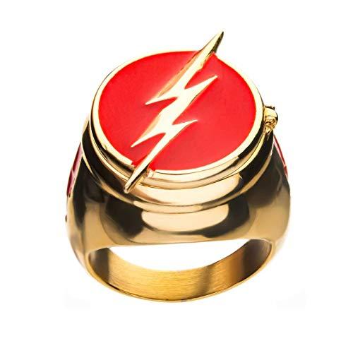 Sales One Anillo de flash con tapa para disfraz dorado