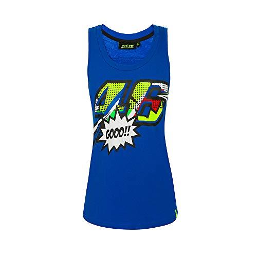 Valentino Rossi Pop Art, Camiseta Mujer, Turquesa, M