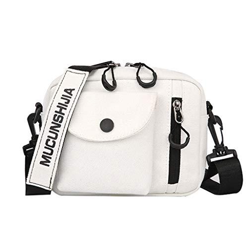 Affordable Canvas Cross Body Multi-Pockets Zipper Shoulder Bag Travel Unisex