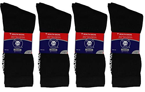 buy  12 Pairs of Non-Skid Diabetic Crew Socks, Non ... Diabetes Care