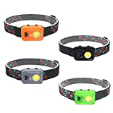 LED Headlamp Flashlight, Running Reading Camping Head Lamp for Adults and Kids, Lightweight Headlamps, 4-Pack