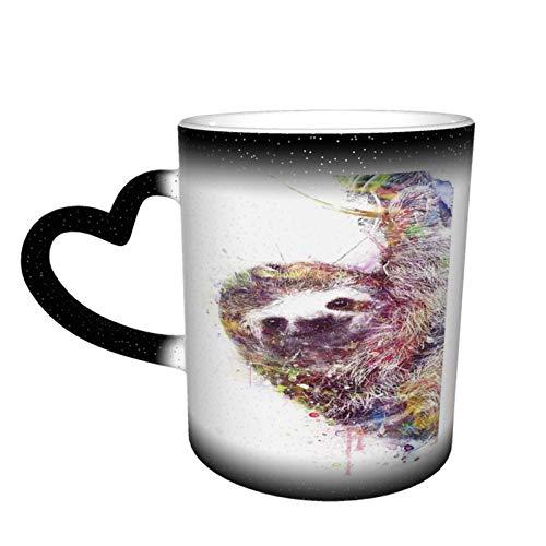 Taza de café divertida con texto en inglés 'Cool Sloth Boss Coworker', ideal para regalo de oficina, taza mágica, 325 ml