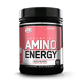 Optimum Nutrition Amino Energy - Pre Workout with Green Tea BCAA Amino Acids Keto Friendly Green Coffee Extract Energy Powder - Watermelon 65 Servings