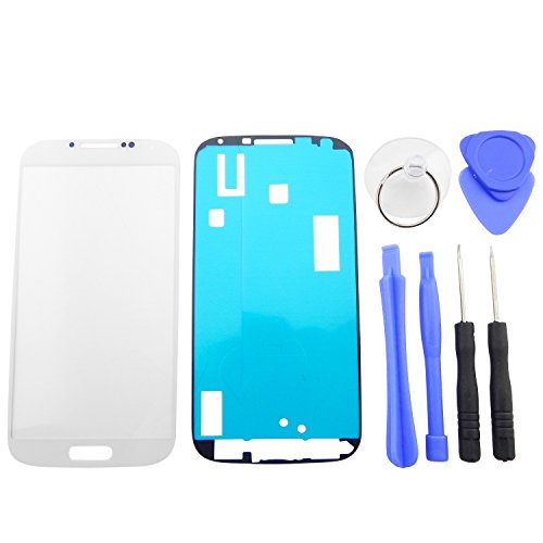ToKa-Versand - Vetro frontale display per Samsung Galaxy S4I9500I9505, touch Screen + set di attrezzi Oracal (7 pezzi), bianco per riparazione di LCD