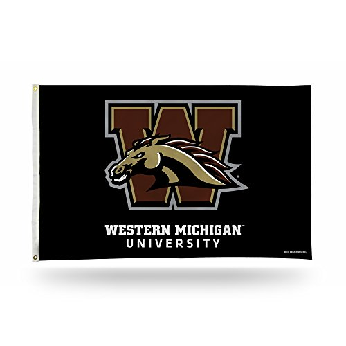 NCAA Rico Industries 3-Foot by 5-Foot Single Sided Banner Flag with Grommets, Western Michigan Broncos