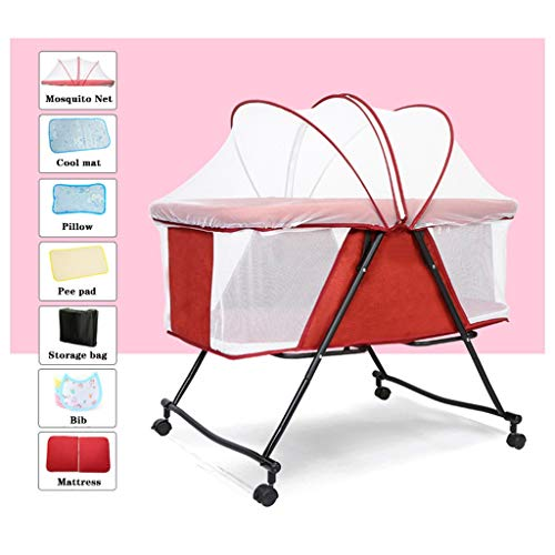 Great Price! Baby Travel Cot Folding Portable, 85 X 55 X 104cm 0/2 Years Old Use for Holidays or Tra...