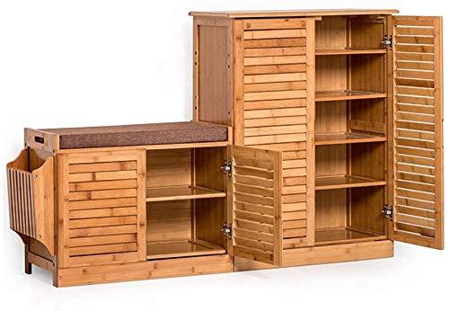YLCJ Kapstok, eenvoudige schoenenkast van massief hout, meerdere lagen, voor de entree in de woonkamer