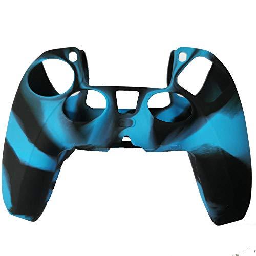 Camuflaje 4 puntos de color PS5 Funda de silicona Playstation5 Funda protectora...