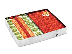 chg 9754-00 cake / pizza frame with divider / height: 5,0 cm / length and width variable