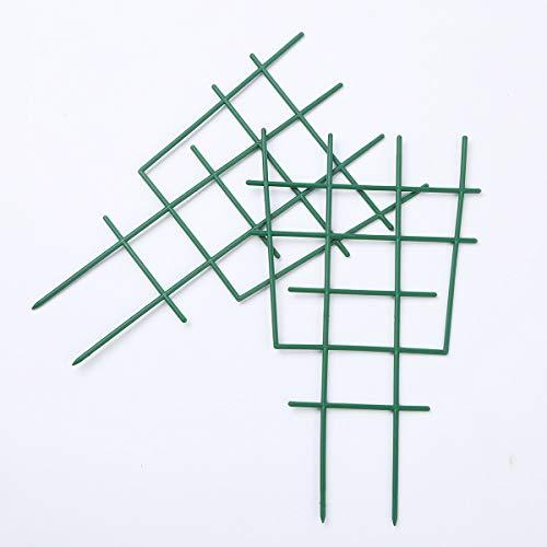 Agoky 2 Stück Blumenstütze Rankhilfe Gitterspalier Rankgitter Aus Kunststoff gerade Grün Gartenpflanzenstütze DIY Mini Klettergitter Grün One Size