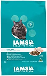 IAMS CAT ADULT INDOOR WEIGHT and HAIRBALL CARE CHICKEN, 8KG