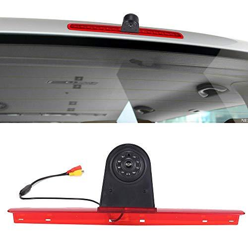 Wasserdicht Einparkkamera Einparkhilfe Farbkamera Bremsleuchte Kamera Bremslicht Rückfahrkamera für VW T5 Bus Transporter Multivan Caravelle 2003-2015 Bj (VW7228B Mit Nachtsicht)