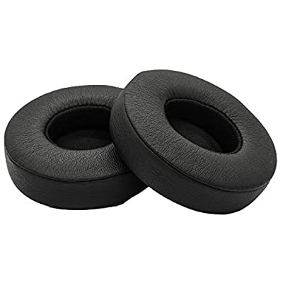 Accessory House Replacement Ear Pads for Beats Solo 2 wired and Solo 2 Solo 3 wireless Headphones With Exclusive AHG Adhesive Tape (BLACK) from Accessory House