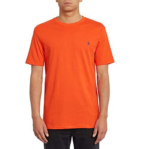 Volcom Stone Blanks BSC SS Camiseta, Hombre, Pepper Red, M