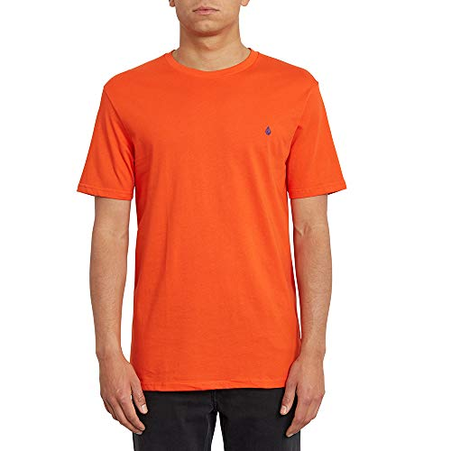 Volcom Stone Blanks BSC SS Herren-T-Shirt M Rot (Pepper Red)