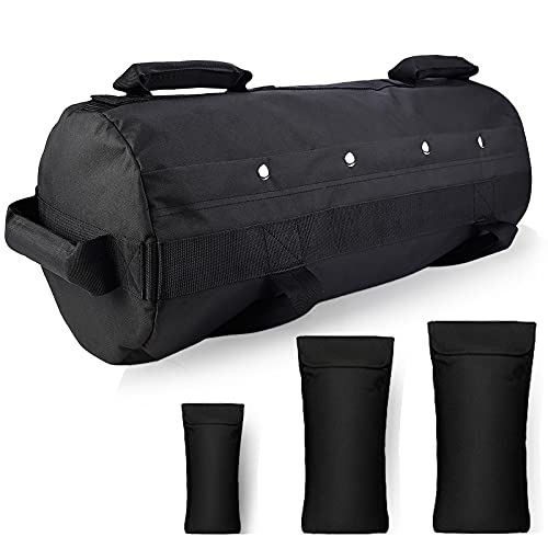 Taeku Power Bag Fitness Sandbags Workout Weights Sandbag per l allenamento Funzionale, Fitness, Forza, Allenamento di Resistenza (Nero)