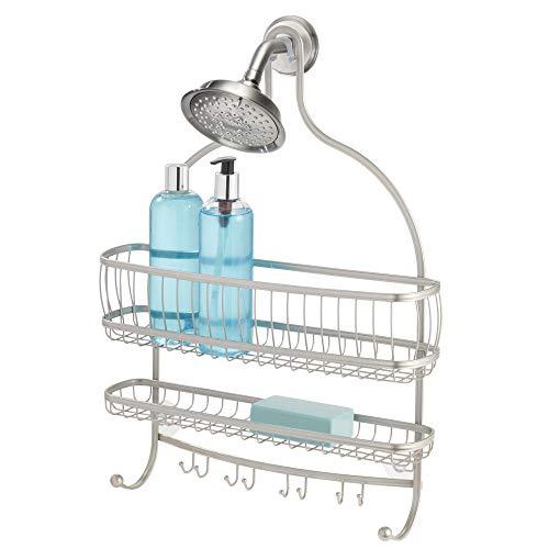 iDesign York Lyra Jumbo Hanging Shower Organizer  16quot x 4quot x 225quot Satin