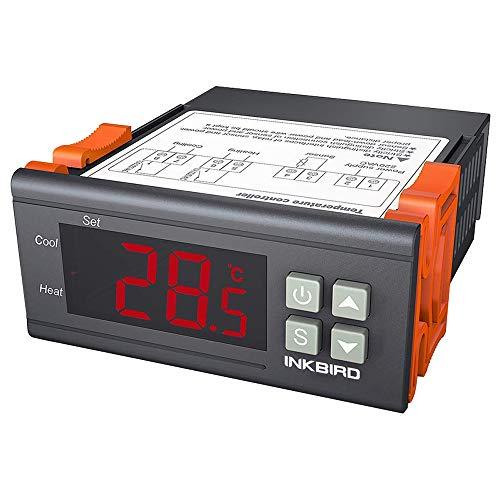 InkBird ITC-1000F Termostato Digital 220V Control de Temperatura calefacción y refrigeración con Sonda y LCD Pantalla para ventilador, reptiles terrarios, acuarios, enfriador industrial, frigorífico
