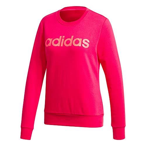 adidas Damen W E LIN Sweat Sweatshirt, Power pink/Signal pink, M