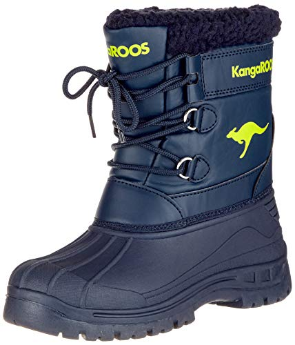 KangaROOS Apol Boot Unisex-Kinder Stiefel, Blau (Dark Navy/Lime 4054), 29 EU