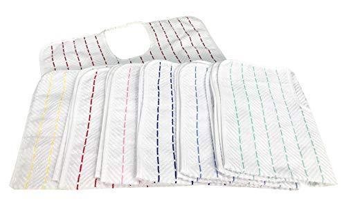 SET BAVAGLIONE ADULTO CESARE © bavaglio con elastico - 3 PEZZI colori UOMO