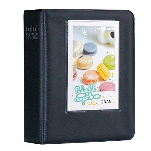 Cpano 64 Pockets Fotoalbum für Fujifilm Instax Mini 8 7s 8+ 9 25 26 50s 90 Polaroidfilme & Namenskarte (Schwarz)