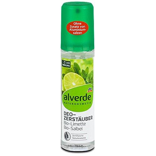 alverde NATURKOSMETIK Deo Zerstäuber Deodorant Limette Salbei, 1 x 75 ml