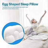 wisedwell メモリーフォーム頸椎枕、整形外科用寝枕人間工学に基づいた卵形の柔らかい通気性枕、サイドスリーパー、背中と胃の寝台用のオールラウンドスリープ枕 for
