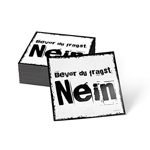 how about tee? Magnet-Sticker: Bevor Du fragst: Nein - Kühlschrankmagnet mit Spruch