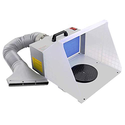 Libatter スプレーブース スプレーワーク DIY塗装ブース LEDライト標準装備 回転プレート付属 エアーブラシ用 プラモデル・模型の塗装作業に排気装置 ペインティングスタンド・ブース