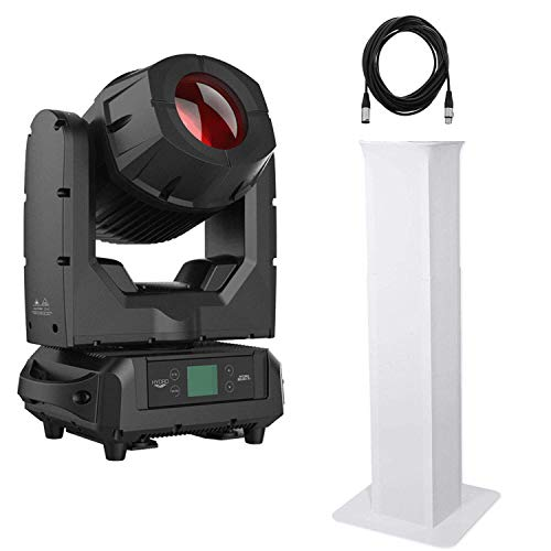 American DJ Hydro Beam X1 – IP65 Moving Head Fixture + Rockville RTP32W Totem Moving Head Light Stands White and Cable