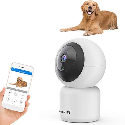 Decdeal 1080P FHD WLAN IP-camera huisdier baby thuis PTZ bewakingscamera met bewegingsdetectie, 2-weg audio, nachtzicht ondersteunt smart alarm en mobiele app-controle